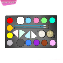 Pintura à base de água Party Pack Face com Stencils Glitter